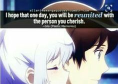 A quote from plastic memories