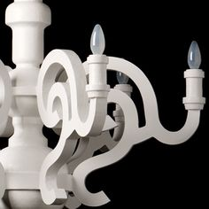 white wood chandelier for master....possible DIY...courtesy of the high low project..must find that episode