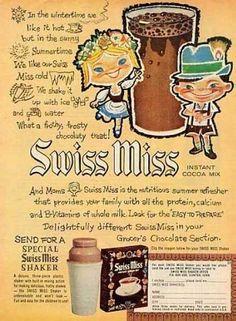 Swiss Miss 1960's packaging