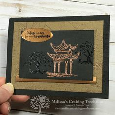 2020 Sale-A-Bration - Power of Hope - Melissa's Crafting Treehouse Today the 2020 Sale-A-Bration promotion goes live! I'll be sharing a project made with the Power of Hope Bundle, which is FREE with qualifying orders. Fun Fold Cards, Folded Cards, Sympathy Cards, Greeting Cards, Asian Cards, Easel Cards, Stamping Up Cards, Card Making Techniques, Card Kit
