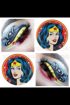 Superwoman Superhero Makeup, Sugarpill Cosmetics, All Hero, Looking For Women, Makeup Inspiration, Wonder Woman, Make Up, Wonder Women
