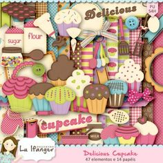 Kit Digital Delicious Cupcake by Lu Ifanger