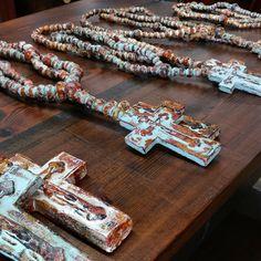 Beautiful Handmade Clay Rosaries starting at $15 each.