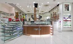 Rush Centrale our second Croydon hair salon was born. Contemporary sweeping staircases lead you from the dedicated retail space up to the airy mezzanine level salon020 8681 3456 #rush #rushhair #rushforlife #rushforlife #salon #salons #salonlife #hair #hairdresser #hairstyle #stylist #assistant #frontofhouse #colourist #interior #design #like #love