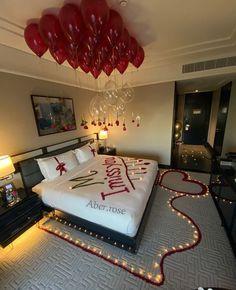 Romantic Room Surprise, Romantic Date Night Ideas, Romantic Room Decoration, Romantic Bedroom Decor, Romantic Dinners, Romantic Gifts, Romantic Quotes, Romantic Hotel Rooms, Cute Boyfriend Gifts