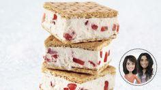 Sandwichs glacés aux fraises