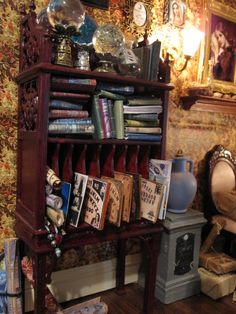 My Miniature Witch House.i love my in house obstacle course. Haunted Dollhouse, Haunted Dolls, Dollhouse Miniatures, Witch Cottage, Witch House, Minis, Witch Room, Halloween Miniatures, Gothic Dolls