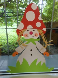 muchomůrková panenka Projects For Kids, Diy For Kids, Crafts For Kids, Autumn Crafts, Autumn Art, Cardboard Crafts, Paper Crafts, Diy And Crafts, Arts And Crafts