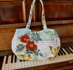 French parisian style colourful tote