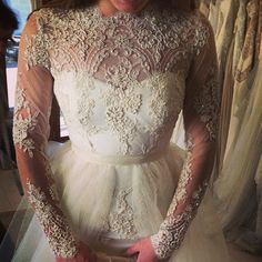Real bride in final fitting. Gown Mary Ioannidis couture