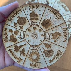 Sabbat Wheel of the year Pagan/Witch calendar crystal grid altar tile Samhain, Mabon, Wood Burning Crafts, Wood Burning Art, Beltane, Celtic Art, Celtic Dragon, Witchcraft Symbols, Witch Drawing