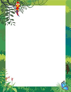 Printable jungle border. Free GIF, JPG, PDF, and PNG downloads at http://pageborders.org/download/jungle-border/