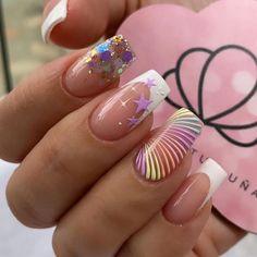New Nail Art, Easy Nail Art, Nail Spa, Manicure And Pedicure, Pink Nails, Gel Nails, Simple Nails, Summer Nails, Nail Art Designs