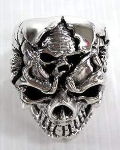 Flaming Cruzado Pistolas De Tatuaje Hebilla de cinturón Gun Metal Punk