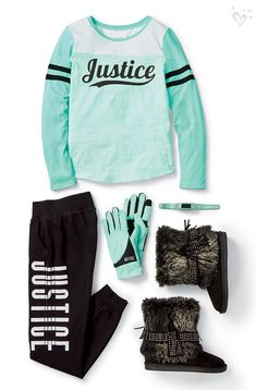 Moda Present your Justice spririt with made-to-match tees, joggers and even gloves! Cute Girl Outfits, Cute Outfits For Kids, Dance Outfits, Sport Outfits, Back To School Outfits For Kids, Girls Fashion Clothes, Tween Fashion, Little Girl Fashion, Fashion Outfits