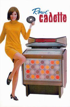 Vintage Rowe cadette jukebox