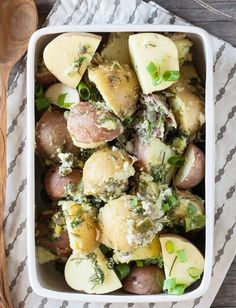 Recipe:  Potato Salad with Lemon Tahini & Dill Dressing