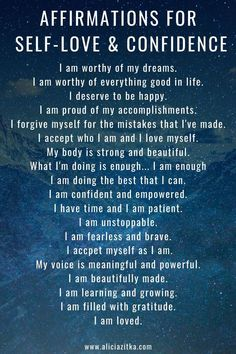Daily Affirmations for Self-Love & Confidence - New Ideas Positive Affirmations Quotes, Self Love Affirmations, Morning Affirmations, Affirmation Quotes, Positive Quotes, Affirmations Confidence, Prosperity Affirmations, Healing Affirmations, Love Quotes For Boyfriend