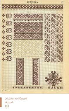 Muscel Decoration Cross Stitch Borders, Cross Stitch Patterns, Popular Costumes, Embroidery Motifs, Sewing Patterns, Traditional, Knitting, Handmade, Crafts