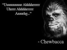 Chebacca qoutes- Thank you kids I babysitt! They made me watch Star Wars Episode 4 with them so I UNDERSTAND!