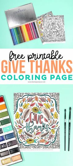 Give Thanks Coloring Page Free Printable - Thanksgiving Coloring Page - Free Download Printable Crush #printablecrush #thanksgiving #givethanks #coloringpageforadults #adultcoloringpage #thanksgivingcoloringpage Earth Day Coloring Pages, Dinosaur Coloring Pages, Fairy Coloring Pages, Alphabet Coloring Pages, Free Printable Coloring Pages, Free Coloring Pages, Coloring For Kids, Coloring Books, Free Thanksgiving Printables