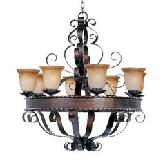 Maxim Lighting 20610VAOI 8 Light Aspen Chandelier, Oil Rubbed Bronze This product by Maxim Lighting comes in an oil rubbed bronze finish. It is available