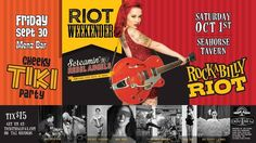 Rockabilly Riot is back for a weekend packed full of fun!  Friday Sept. 30th - Menz Bar - Cheeky Tiki Party We are thrilled to have back the highly energrtic energetic Surf duo The Green Reflectors. All the way from Newfounland the lovely Miss Kitty Fantastico. Joining them will be the beautiful burlesque vixens Rusty McShimmyHolly Moly & Rosie Rotica.  Saturday Oct.1st - The Seahorse Tavern  8:30 PM Swing Dance Contest  9PM Vivacious Vixen Apparel Fall Fashion Show Joining us will be New…