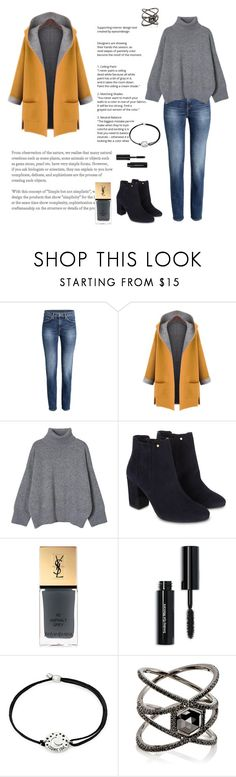 """""""Untitled #187"""" by jennyc0p ❤ liked on Polyvore featuring WithChic, Monsoon, Yves Saint Laurent, Bobbi Brown Cosmetics, Alex and Ani and Eva Fehren"""
