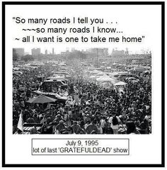 The Lot at the last Dead show, July I miss Jerry. Grateful Dead Shows, Grateful Dead Image, Soldier Field, Music Like, Forever Grateful, Good Ole, Take Me Home, Say Hello, Best Part Of Me