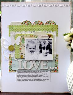 """sweet """"love"""" layout by Harrys mum, via Flickr"""