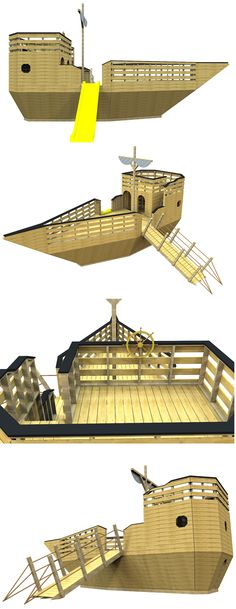 The pirate ship playhouse plan, hosted on paulsplayhouses.com
