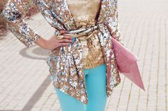 sequins and layering