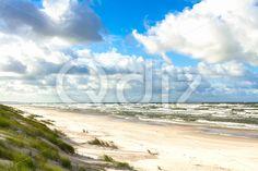 Qdiz Stock Photos | Sand beach on Baltic sea,  #Baltic #beach #blue #clouds #coast #coastline #curonian #destination #Europe #horizon #landscape #Lithuania #location #nature #neringa #nida #outdoor #sand #sandy #sea #seascape #shore #sky #spit #surf #Travel #vacation #view #water #waves #way #wildlife