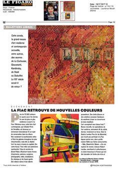 Le Figaro 16 octobre 2015 #Lefigaro #MauriceEsteve #FIAC2015 #FIAC