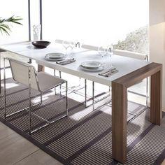 Mesa Comedor Veci beige. Mesa de comedor de 130 cm. extensible a 175 cm. y 220…