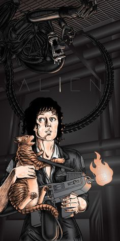 An alternative movie poster for the film Alien, created by Erin Gallagher, featured on AMP. Alien Vs Predator, Predator Movie, Xenomorph, Science Fiction, Giger Alien, Alien 1979, Alien Isolation, Aliens Movie, Horror Monsters