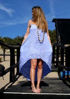 Vestito Lungo Donna Maxi Dress Copricostume Hippy di BeHappieWorld