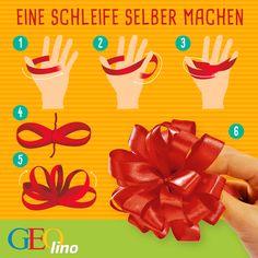 Eine ideas in boxes Geschenkbox und dazu die passende Schleife selber basteln. So einfach geht´s.