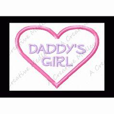 Daddy's Girl Feltie Embroidery Design