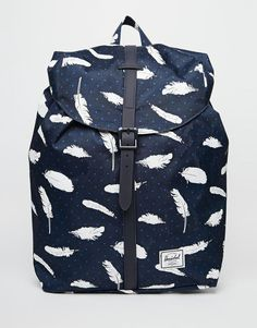 Image 1 of Herschel Supply Co Post Backpack in Feather Print