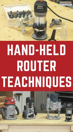 Hand-held routers are incredibly versatile. Used properly, they can add detail t… Woodworking Basics, Router Woodworking, Woodworking Techniques, Woodworking Projects Diy, Diy Wood Projects, Woodworking Shop, Woodworking Supplies, Woodworking Videos, Best Wood Router