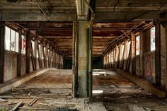 L'usine automobile abandonnée Packard Motor Car Company