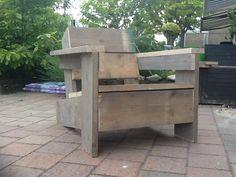 Loungestoel of bank van Steigerhout, zelf maken? Download hier de bouwtekening