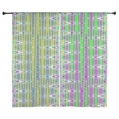 "Colorful Stripes Wave Abstract Design 60"" Curtains on CafePress.com"