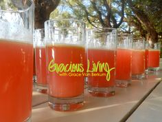 some of the most popular Gracious Living juices from the 10 Day Detoxification & Juice Fast Retreat at the Sivananda Yoga Retreat in the Bahamas. Spring Detox & Juice Fast  is April 23-30, ...