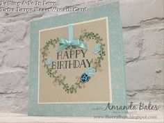 The Craft Spa - Stampin' Up! UK independent demonstrator : Falling in Love & Tutorial for Extra Extra Large Heart Wreath Card