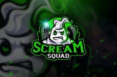 Scream Squad - Mascot & Esport Logo by aqrstudio on Envato Elements Scream, Angry Animals, Brain Logo, Graffiti, Esports Logo, Sports Team Logos, E Sport, Branding, Game Logo