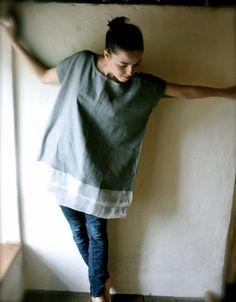 Grey Linen/Silk Tunic Dress by larimeloom on Etsy http://www.etsy.com/listing/77066428/grey-linensilk-tunic-dress