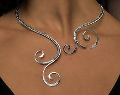 Leaf necklace foliage Jewelry copper jewelry by AlenaStavtseva
