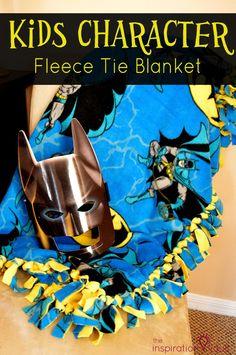 Kids Character Fleece Tie Blanket No Sew Craft Tutorial